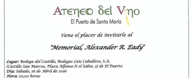 Ateneo del Vino. Memorial Alex